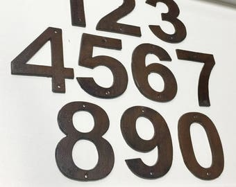 wrought iron house number, rustic house number, Number(s), Home Numbers, Number Applique, House Address, Distressed