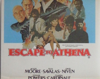 Escape To Athena - 1979 - Original Australian daybill movie poster - Roger Moore -  David Niven
