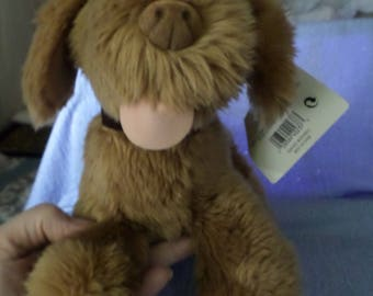 Target Dog plush Gund made brown velour nose tongue NWTS vintage velvet collar 10""