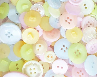 Big bag of pastel buttons