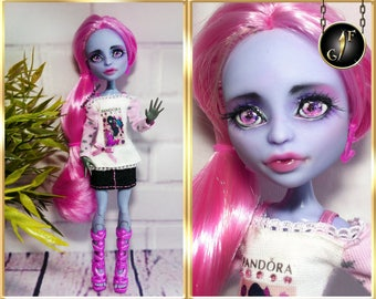 "Monster OOAK doll ""Stella Rosea"" high fashion custom"