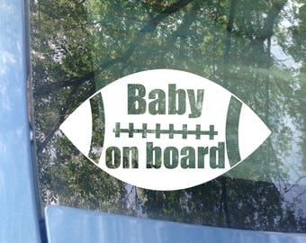 Baby on board Decal | Car Decal | Football Decal | New Baby | Baby Shower Gift | Baby on board Sticker | Sports Decal | Babies on Board Sign