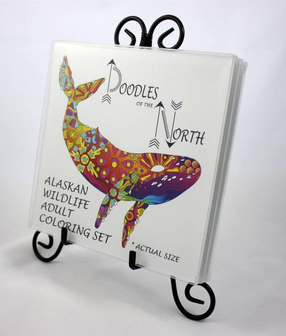 Alaskan Animals Adult Coloring Book