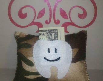 Camo tooth fairy pillow