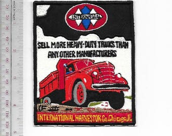 Vintage Truck Illinois International Harvestor 1939 Promo Patch Chicago, IL