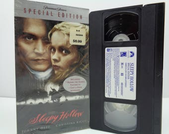 Sleepy Hollow VHS Tape Johnny Depp