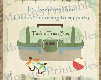 Fishing Party Favor Tags / Instant Download / Digital File