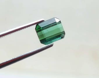 WOW 1.50 Carat Green color loose tourmaline gemstone from@ Afghanistan 7*5.5*4mm (18)