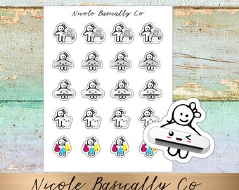 Cutie Pies- Print and Cut Planner Stickers