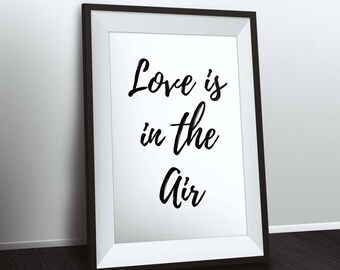 "Poster A4 size frame ""Love is in the air"""
