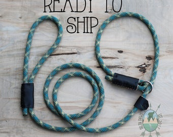READY to SHIP! 6FT Trooper Slip Lead || Rock Climbing Rope Dog Leash || Handmade in the USA
