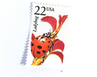 1 x Ladybug Unused US postage stamp - 1987 22 cents - Scott 2315 - Ladybird - for mailing, scrapbooking, photo styling, postcrossing, art