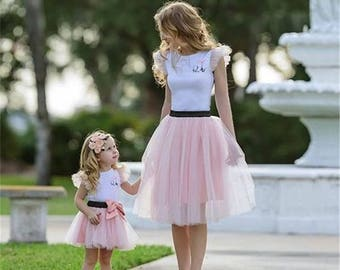 Mother Daughter matching tutu outfits personalization available, mommy and me outfits,Birthday Celebration Mother Daughter matching outfits