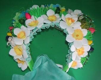 Girl's Easter Bonnet, Easter bonnet, Easter bonnet bunny, Easter bonnet, Girls Easter bonnet, Easter hat, Easter bonnet, daffodils head hoop