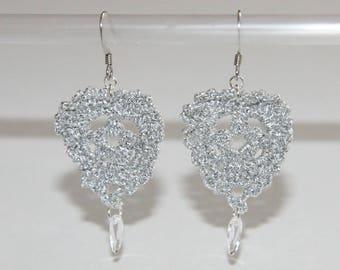 Silver hook earrings