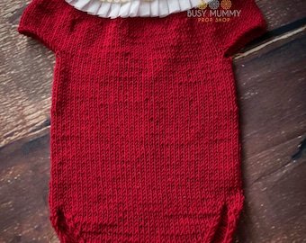 Photo prop baby girl romper Christmas outfit 3-6 month