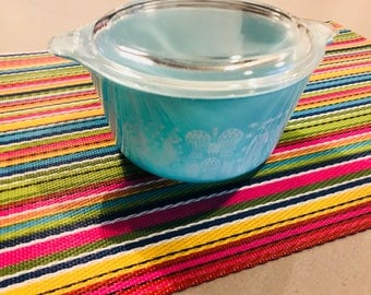 Vintage Pyrex Amish Butterprint #473 Bowl with matching Lid
