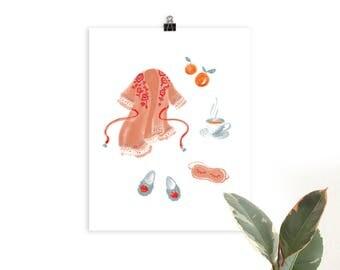 Treat Yourself Illustrated Art Print