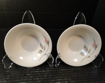 """TWO Knowles Dawn Rose Berry Bowls Designed by Kalla 5 1/2"""" Set of 2 EXCELLENT!"""