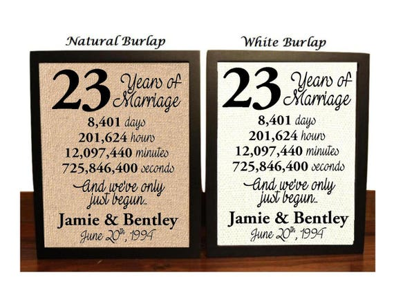 23rd Wedding Anniversary Gift Ideas