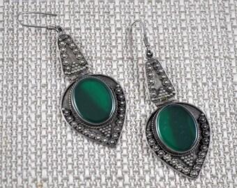 Sterling silver middle eastern pierced earrings