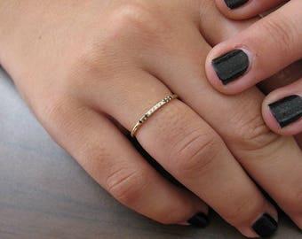 Diamond Wedding Ring Women, Black And White Diamond, Wedding Band 11 Stones, Anniversary Ring, Promise Ring Diamond, Engagement Ring
