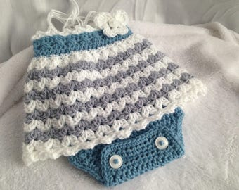 Crochet baby romper, crochet baby dress