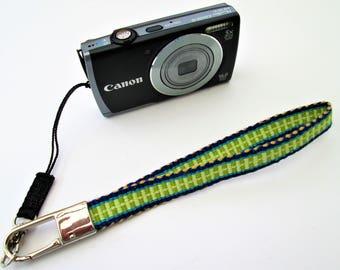 Handwoven Wrist Camera Strap for Small Camera, or Key Chain