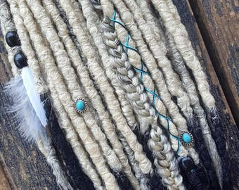 Dreadlocks, dreads, synthetic dreadlocks, dreadlock extensions, blonde dreadlocks, clip in dreadlocks