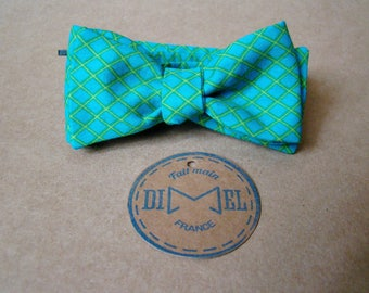 Green fence man bowtie adjustable yellow to order