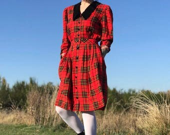 Vintage Tartan Plaid Dream Dress