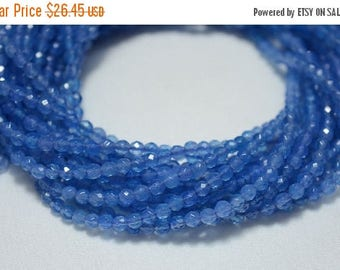 50% DISCOUNT 3mm Blue Onyx Beads, Micro Faceted Rondelles Beads, Onyx Rondelles, Gemstone beads 15.5 Inch Strand