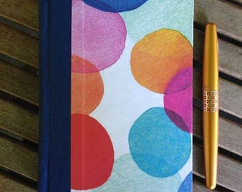 Watercolor Circles blank journal, sketchbook, diary, garden Journal, Travel Diary (96 pages)