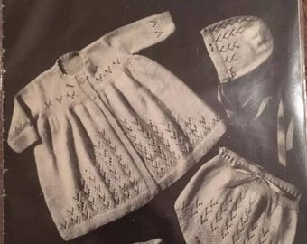 Vintage Twin-Prufe Hughes Baby Knitting Book Series 215 Patterns