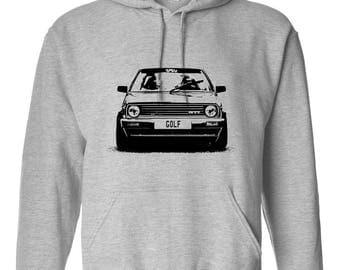 VW Old School Golf Mk2 Retro Style Hoodie