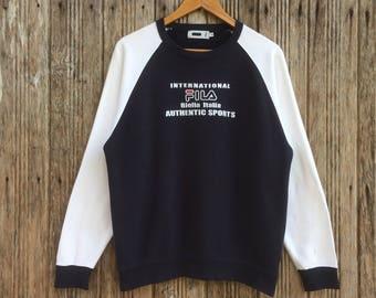 Rare!! Vintage Fila Biella Italia Sweatshirt Nice Design Medium size