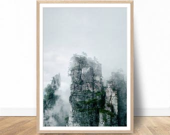 Mountain Print, Mountain Wall Art, Mountain Digital Prints, Mountain Digital Download, Digital Art, Nature Prints, Lage Wall Art Poster