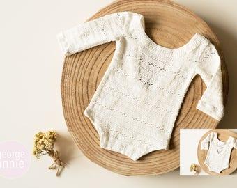 Chelsea Little Girl Romper - Newborn, 6-9 Months or 12 Months - Photography Prop