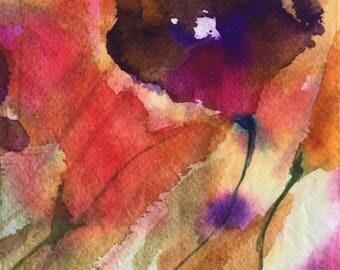 Linen Panel. Placemat. Dish towel. Digital watercolor