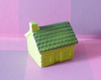 Mini house figurines ceramic -Doll house Miniature house ornaments -home decor Fairy garden