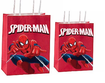 Marvels spiderman Party Favor Bag ~ Birthday Party Inspired Decorations & Decor instant download