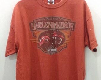 15% DISCOUNT PROMOTION Harley Davidson Palm Spring Califonia t shirt orange colour XL size