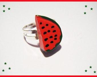 Resin watermelon fruit ring ♥ ♥