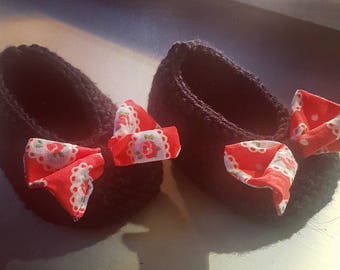 Rose Bow slippers