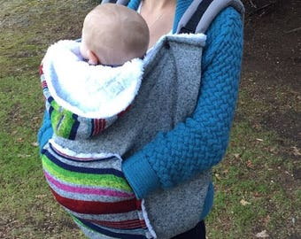 Fleece Baby Carrier Cover and Hoodie (Also works as a car seat cover!)