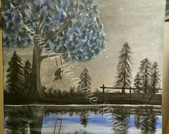 Reflect - Original Acrylic Painting Art Print