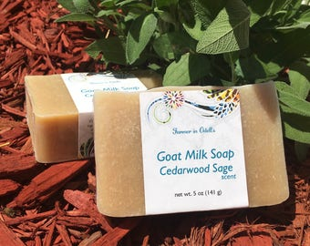 Goat Milk Soap - Cedarwood Sage
