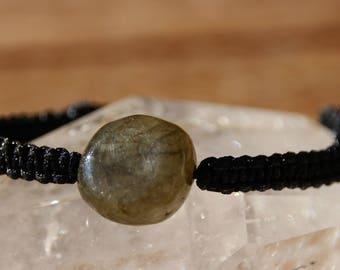 shamballa bracelet with labradorite bead