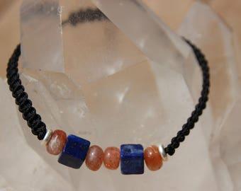 Sun stone lapis shamballa bracelet