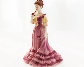 "Sweet Coalport porcelain figurine ""Isobel"", from the Beau Monde collection, England, c1990s"
